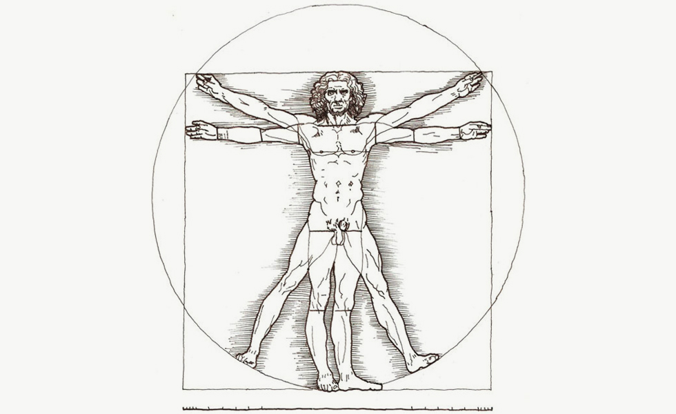 Image of Leonardo da Vinci's Vitruvian Man