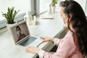 virtual appointment with a doctor